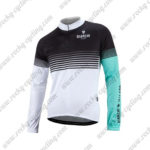 2016 Team BIANCHI MILANO Cycling Long Sleeves Jersey Black White Blue