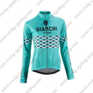 2016 Team BIANCHI MILANO Cycling Long Sleeves Jersey Blue