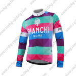 2016 Team BIANCHI MILANO Cycling Long Sleeves Jersey Pink Purple Blue
