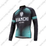2016 Team BIANCHI MILANO Riding Long Sleeves Jersey Black Blue