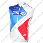 2016 Team FDJ Cycling Vest Sleeveless Waistcoat Rain-proof Windbreak Blue Red