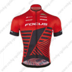 2016 Team FOCUS Bike Jersey Maillot Shirt Red Black