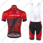 2016 Team FOCUS Cycling Bib Kit Red Black