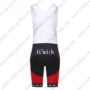 2016 Team FOCUS Riding Bib Shorts Bottoms Red Black