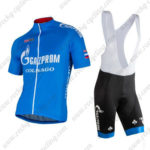 2016 Team GAZPROM COLNAGO Cycling Bib Kit Blue