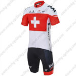 2016 Team IAM Switzerland Riding Kit White Red