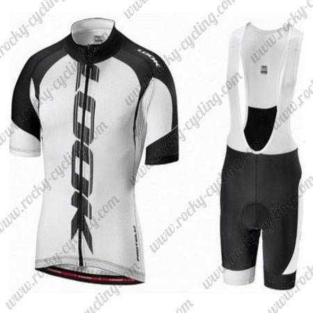 2016 Team LOOK Biking Wear Cycle Jersey and Padded Bib Shorts White ... 3ddc243df