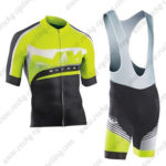 2016 Team NW Northwave Cycle Bib Kit Light Green Black