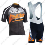 2016 Team NW Northwave Cycle Bib Kit Maillot Black Orange Grey