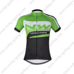 2016 Team NW Northwave Cycle Jersey Maillot Green Black