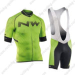 2016 Team NW Northwave Riding Bib Kit Green