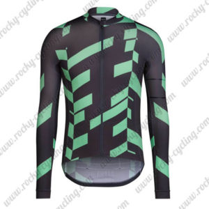 2016 Team RAPHA Cycling Long Jersey Maillot Black Green