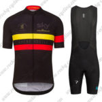 2016 Team SKY Rapha Cycling Bib Kit Black Yellow Red