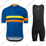2016 Team SKY Rapha Cycling Bib Kit Blue Yellow Orange
