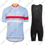 2016 Team SKY Rapha Cycling Bib Kit Light Blue Red White