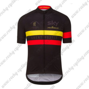 2016 Team SKY Rapha Cycling Jersey Maillot Shirt Black Yellow Red