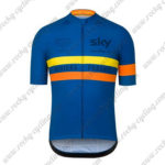 2016 Team SKY Rapha Cycling Jersey Maillot Shirt Blue Yellow Orange