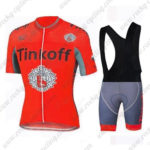2016 Team Tinkoff Riding Bib Kit Red