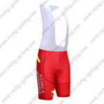 2017 Team AG2R LA MONDIALE CANADA Cycle Bib Shorts Bottoms Red