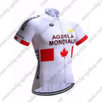2017 Team AG2R LA MONDIALE CANADA Cycle Jersey Maillot Shirt White Red