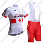 2017 Team AG2R LA MONDIALE CANADA Cycling Bib Kit White Red