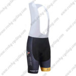 2017 Team ASTANA Cycle Bib Shorts Bottoms Black Yellow