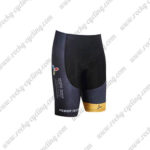 2017 Team ASTANA Cycle Shorts Bottoms Black Yellow