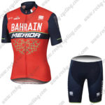 2017 Team BAHRAIN MERIDA Cycling Kit Red
