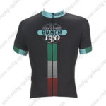 2017 Team BIANCHI Cycling Jersey Maillot Shirt Black Green Red