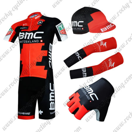 2017 Team BMC Biking Clothing Cycle Jersey and Padded Shorts+Gloves+ ... 298fa03c6