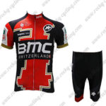 2017 Team BMC Cycling Kit Red Black White