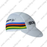 2017 Team BORA UCI Champion Riding Cap Hat White Rainbow