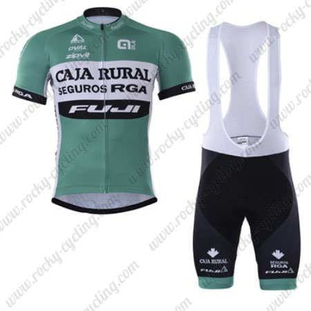 2017 Team CAJA RURAL FUJI Riding Clothing Cycle Jersey and Padded ... 4d169e32b