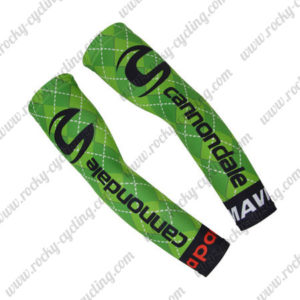2017 Team Cannondale Drapac Cycling Arm Warmers Sleeve Green Black Red