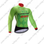2017 Team Cannondale drapac Biking Long Jersey Maillot Green Black