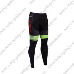 2017 Team Cannondale drapac Biking Long Pants Tights Black Green