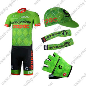 2017 Team Cannondale drapac Cycling Combo Set Green 5-pieces