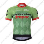 2017 Team Cannondale drapac Cycling Jersey Maillot Shirt Green Black Red
