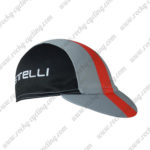2017 Team Castelli Riding Cap Hat Black Grey Red