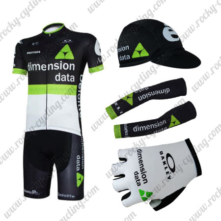 2017 Team Dimension data Cycling Combo Set Black Green White 5-pieces e768b29f4
