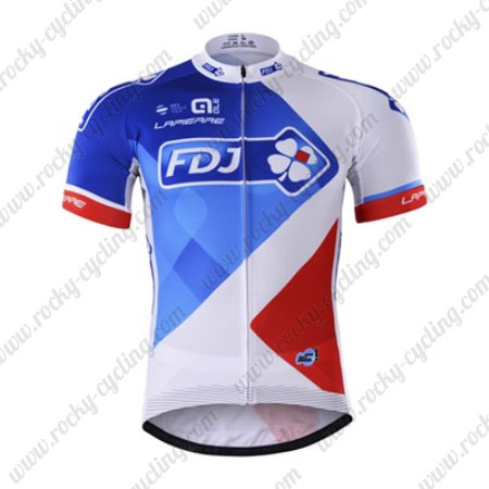 2017 Team FDJ Bicycle Jersey Maillot Shirt White Blue Red 2017 Team FDJ QLE Cycle  Apparel Riding ... 33b5f7049