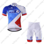 2017 Team FDJ Cycle Kit White Blue Red