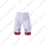 2017 Team FDJ Cycle Shorts Bottoms White Blue Red