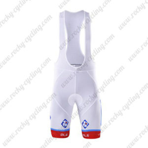 2017 Team FDJ Riding Bib Shorts Bottoms White Blue Red