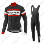 2017 Team GIANT Cycling Long Bib Suit Black White Red
