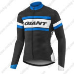 2017 Team GIANT Cycling Long Jersey Maillot Black White Blue