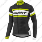 2017 Team GIANT Cycling Long Jersey Maillot Black White Yellow