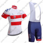 2017 Team IAM Austria Cycling Bib Kit White Red