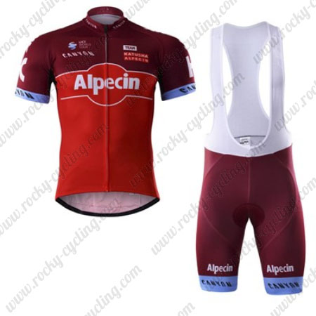 8a0d6f4e6 2017 Team KATUSHA Alpecin Riding Apparel Cycle Jersey and Padded Bib ...