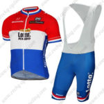2017 Team LOTTO JUMBO Netherlands Cycling Bib Kit Red Blue